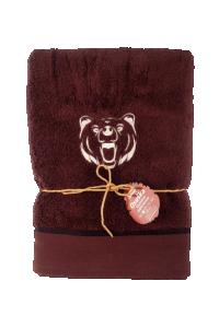 "Náhled Osuška ""Medvěd"" pro myslivce z mikrobavlny SLEEP WELL® - 70x140 cm"