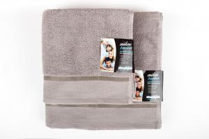 Osuška mikrobavlna SLEEP WELL® - 70x140cm - SVĚTLE ŠEDÁ