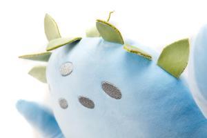 Plyšák - polštářek z mikrospandexu DINOSAURUS modrý