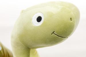 Plyšák - polštářek z mikrospandexu DINOSAURUS zelený