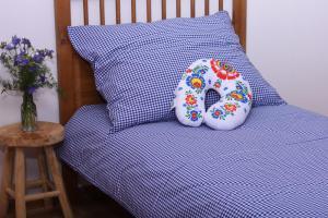 Náhled Povlečení NA CHALUPU, 100% bavlna - kanafas, modré
