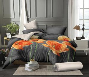 Náhled Povlečení mikroflanel na francouzkou postel VLČÍ MÁKY - 2x70x90 cm + 200x240 cm, kolekce 2021
