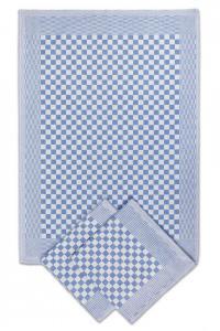 Náhled Pracovní ručník / utěrka 50x70cm kepr hladká - MODRÁ 3ks