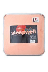Prostěradlo mikroflanel SLEEP WELL® - 90x200 cm - lososová