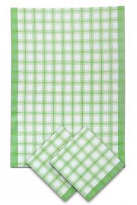 Náhled Svitap Utěrky bambusové - Velká kostka - zelená 50x70 cm 3ks