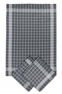 Náhled Svitap Utěrky bavlněné - Negativ tmavě/šedo - bílá 50x70 cm 3ks