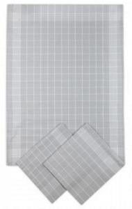 Náhled Svitap Utěrky bavlněné - Negativ světle/šedo - bílá 50x70 cm 3ks