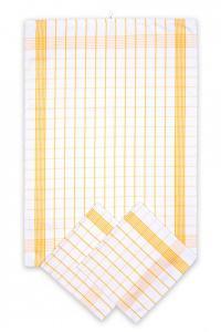 Náhled Svitap Utěrky bavlněné - Pozitiv bílo - žlutá 50x70 cm 3ks