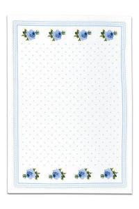 Svitap bavlněné utěrky SLEEP WELL® for HOME 50x70cm 3ks - RŮŽIČKY MODRÉ