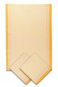 Náhled Svitap utěrky bambusové Malá kostka žlutá  - 3ks 50x70 cm