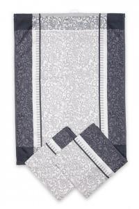 Náhled Svitap utěrky egyptská bavlna ORNAMENTY 50x70cm 3ks - ŠEDÁ