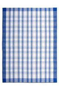 Utěrky z egyptské bavlny 50x70cm 3ks TRADIČNÍ KÁRO TMAVĚ MODRÁ