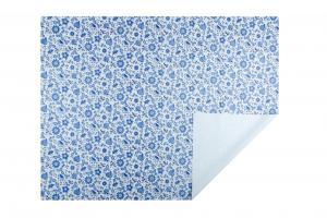 UBRUSOVINA PVC s textilním podkladem/PVC UBRUS - vzor CIBULÁK MODRÝ