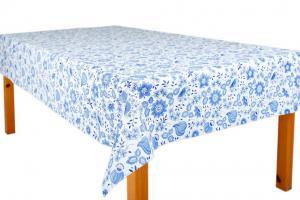 Náhled UBRUSOVINA PVC s textilním podkladem/PVC UBRUS - vzor CIBULÁK MODRÝ