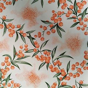 Náhled UBRUSOVINA PVC s textilním podkladem/PVC UBRUS - vzor rakytník oranžový