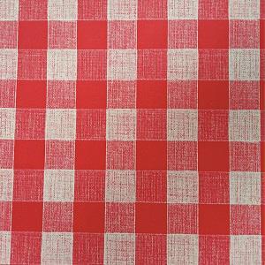 UBRUSOVINA PVC s textilním podkladem/PVC ubrus - vzor kostka červená