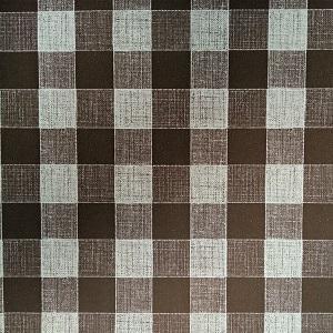 Náhled UBRUSOVINA PVC s textilním podkladem/PVC ubrus - vzor kostka hnědá