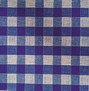 Náhled UBRUSOVINA PVC s textilním podkladem/PVC ubrus - vzor kostka modrá