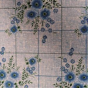 Náhled UBRUSOVINA PVC s textilním podkladem/PVC ubrus - vzor kytka modrá