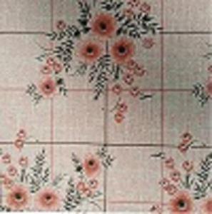 Náhled UBRUSOVINA PVC s textilním podkladem/PVC ubrus - vzor kytka oranžová