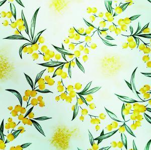 UBRUSOVINA PVC s textilním podkladem/PVC ubrus - vzor rakytník žlutý