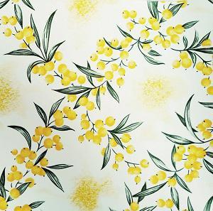 Náhled UBRUSOVINA PVC s textilním podkladem/PVC ubrus - vzor rakytník žlutý