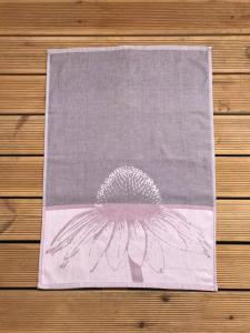 Utěrky egyptská bavlna, žakárově tkaná ECHINACEA 50x70cm 3ks - STARORŮŽOVÁ