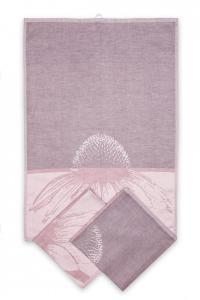 Náhled Svitap utěrky egyptská bavlna, žakárově tkaná ECHINACEA 50x70cm 3ks - STARORŮŽOVÁ