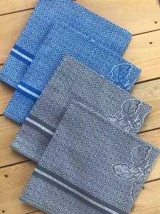 Svitap utěrky egyptská bavlna, žakárově tkaná ŘEDKVIČKY 50x70cm 3ks - ŠEDÁ