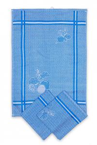 Náhled Svitap utěrky egyptská bavlna, žakárově tkaná ŘEDKVIČKY 50x70cm 3ks - MODRÁ