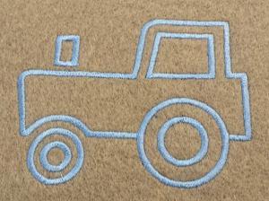 Náhled Výšivka traktor 10,5x7,5cm