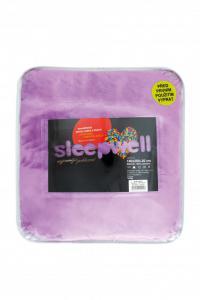 Prostěradlo mikroflanel SLEEP WELL® - 180x200cm - lila