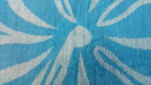Plážová osuška 100% bavlna 100x180cm - TYRKYSOVO/MODRÁ