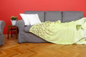 Deka z mikrovlákna SLEEP WELL® tisk 150x200cm - PAMPELIŠKA PISTÁCIE