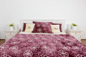 Povlečení mikroflanel SLEEP WELL® 70x90 cm + 140x200 cm - KVĚTY FIALOVÉ