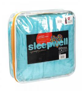 Prostěradlo mikroflanel SLEEP WELL® - 90x200 cm - KIKKO tyrkys