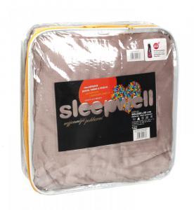 Prostěradlo mikroflanel SLEEP WELL® - 180x200cm KIKKO - šedobéžové