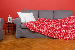 Deka z mikrovlákna SLEEP WELL® tisk 150x200cm - ZIMNÍ VÁNOČNÍ VZOR
